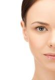 Half face of beautiful woman Royalty Free Stock Image