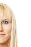 Half face blonde Royalty Free Stock Images