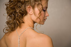 Half face of a bride Royalty Free Stock Images