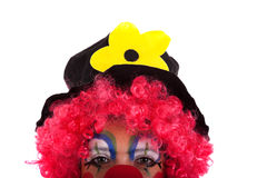 Half face from a funny clown Stock Images