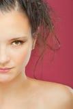 Half face of lovely girl Stock Photo