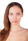 Half face make-up. Stock Photos