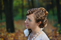 Half-face portrait of a bride Royalty Free Stock Photo