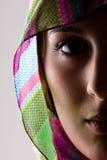 Half Face Sensuality. A Sensual Half Face Closeup Portrait Of A Beautiful Girl Royalty Free Stock Photos