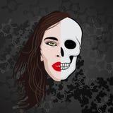 Half face skull Stock Photo