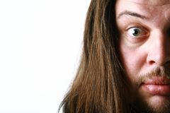 Half face of surprised man Royalty Free Stock Photography