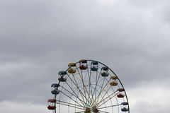 Half of the Ferris wheel. At the bottom image Stock Images