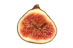Half a fig Royalty Free Stock Photo