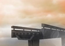Half finished bridge in sky Royalty Free Stock Photo