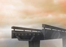 Half finished bridge in sky Royalty Free Stock Photo