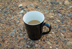 A half - finished cup of coffee Royalty Free Stock Photos