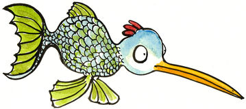 Half fish half fowl Royalty Free Stock Images