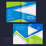 Half-fold template for advertising concept brochure Royalty Free Stock Photo