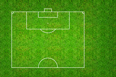 Half of football field or soccer field pattern and texture with. Clipping path. Abstract soccer field or football field background for create soccer tactic and Stock Images