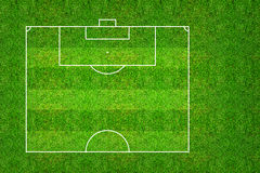 Half of football field or soccer field pattern and texture with. Clipping path. Abstract soccer field or football field background for create soccer tactic and Stock Photos