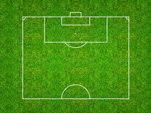 Half of football field or soccer field pattern and texture with. Clipping path. Abstract soccer field or football field background for create soccer tactic and Royalty Free Stock Image