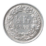 Half frankmuntstuk Royalty-vrije Stock Afbeelding