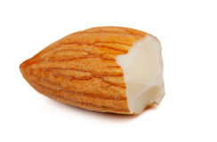 Half of fresh almonds Stock Photo