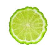 Half of fresh bergamot isolated on white. Background stock image