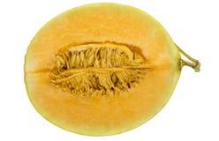 Half of Fresh cantaloupe melon isolated on white background Royalty Free Stock Photography