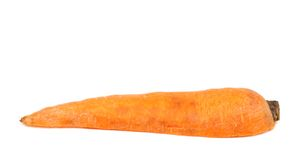 Half of fresh carrot Stock Images
