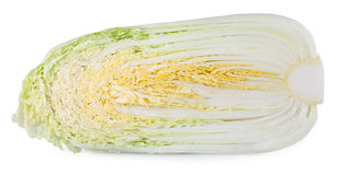Half of fresh chinese cabbage Royalty Free Stock Images