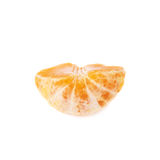 Half of fresh juicy tangerine fruit isolated over Royalty Free Stock Photography