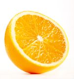 Half of A Fresh Orange. Isolated On A white Stock Image