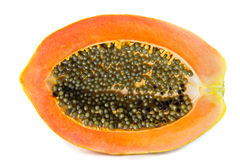 Half Of Fresh Papaya Fruit Royalty Free Stock Photos