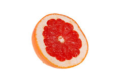 Half of fresh pink grapefruit Royalty Free Stock Photo