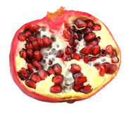 Half of fresh red pomegranate Stock Photography