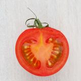 Half a fresh tomato royalty free stock images