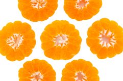 Half fruit an orange peel. Royalty Free Stock Photography