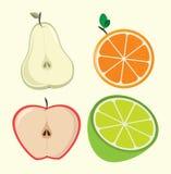 Half fruits design Royalty Free Stock Photography