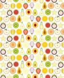 Half fruits seamless pattern Royalty Free Stock Image
