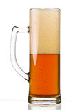 Half Full Beer Glass Royalty Free Stock Images