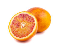 Half and full of blood red oranges Royalty Free Stock Photo
