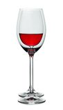 Half full and empty wineglass Royalty Free Stock Photo