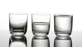 Half-full or half-empty Stock Photos