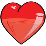 Half-full, half-empty heart Royalty Free Stock Image