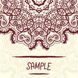 Half-full mandala design a lot of copyspace. Half-full mandala design with a lot of copyspace. Wedding invitation, delicate floral pattern. Vector background Royalty Free Stock Photo