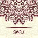 Half-full mandala design a lot of copyspace. Royalty Free Stock Photo