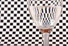 Half full wine glass Stock Images