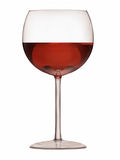 Half Full Wine Goblet - Illustration. Illustration of a wine glass filled with red wine Stock Photo
