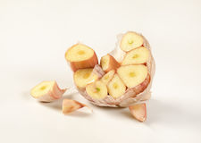 Half of garlic bulb Royalty Free Stock Photo