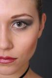 Half gezicht Stock Foto