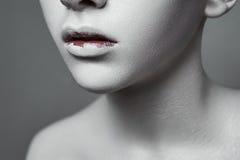 Half Gezicht van schoonheidsmeisje met creatieve Make-up royalty-vrije stock foto's