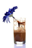 Half glass of chocolate drink Royalty Free Stock Photos