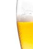 Half glass of fresh beer with drops Stock Photos