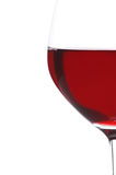 Half Glass of Red Wine Royalty Free Stock Images